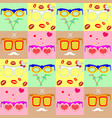 pattern various fashionable glasses vector image vector image