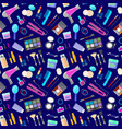 pattern with tools for makeup vector image vector image