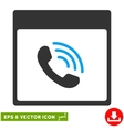 Phone Call Calendar Page Eps Icon vector image vector image