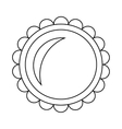 Pie icon in outline style vector image vector image