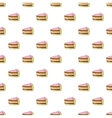 Piece of cake pattern cartoon style vector image vector image