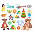 playthings at factory set vector image vector image