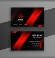red and black geometric business card design vector image vector image