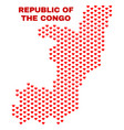 republic of the congo map - mosaic of valentine vector image vector image