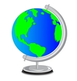 School globe vector image