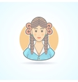 Schoolgirl pupil girl teenager icon vector image vector image