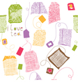 scrapbook background sketches vector image vector image