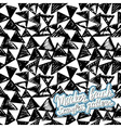 Seamless brush hand drawn doodle pattern vector image