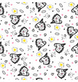 seamless pattern doodle vector image