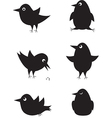 Set of cartoon birds icons vector image