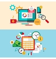 Set of modern flat design business vector image
