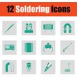 set of twelve soldering icons vector image