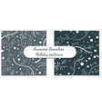 set of two winter patterns vector image vector image