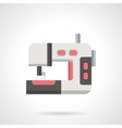 Sewing equipment flat color icon vector image