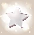 Silver metallic star prize