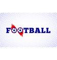 soccer football sport game fire ball design vector image vector image