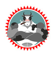 Strong Bull with glasses and with a cigar Logo for vector image vector image
