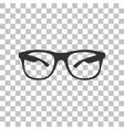 Sunglasses sign Dark gray icon on vector image vector image