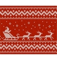 Sweater with Santa and his deers vector image vector image