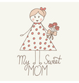 sweet mom vector image vector image
