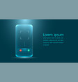the latest tech for smartphones communicate via vector image vector image
