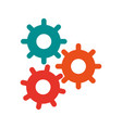three gears colors icon image vector image vector image