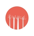 tree forest branch hand drawing isolated icon vector image vector image