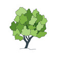 tree sketcharchitect hand drawn landscape element vector image