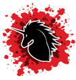 unicorn head vector image vector image