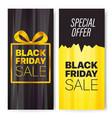 vertical advertising banners set black fridat sale vector image