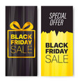 vertical advertising banners set black friday sale vector image