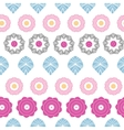 Vibrant floral stripes seamless pattern background vector image