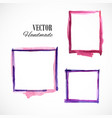 watercolor-frame-violet vector image