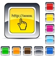 www click square button vector image vector image