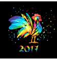 year rooster 2017 vector image