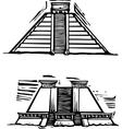 Mayan Pyramids vector image