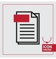 Page Simple Icon vector image