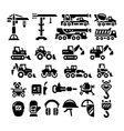 Set icons of construction equipment vector image