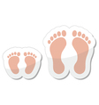 Footprint icon - baby child and adult