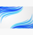 abstract blue curve wave background vector image vector image