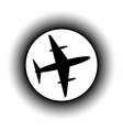 Airplane button vector image vector image