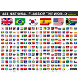 all national flags world paper design vector image vector image