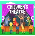 Amateur Children Theatre Performance Of A Red Hood vector image