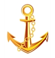 Anchor from gild vector image vector image