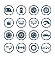 auto icons universal set vector image vector image
