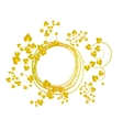 banner with yellow leaves vector image vector image