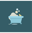 bath duck with soap bubbles and relaxing vector image vector image