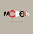 bauhaus art alphabet modern vintage font minimal vector image