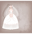 Bride on vintage background vector image vector image
