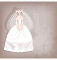 Bride on vintage background vector image